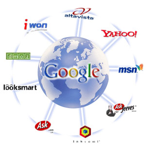 Google takes results and feeds results from many other search engines